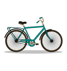 isolated with vintage bicycle vector image vector image