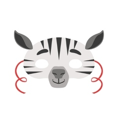 Zebra animal head mask kids carnival disguise vector