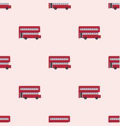 euro trip tourism travel design double decker bus vector image