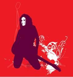 I love Rock'N'Roll vector image