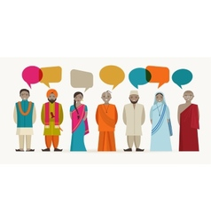 Indian people talk - different indian religious vector image