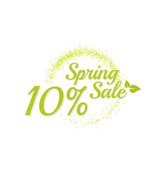 inscription spring sale vector image