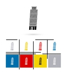 Leaning Tower of Pisa in Italy icon vector image vector image