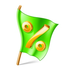 percent sign on flag vector image vector image