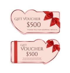 Two gift card templates vector image vector image