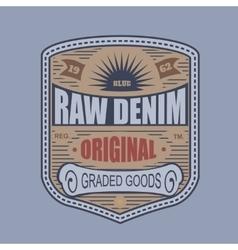 Vintage denim typography t-shirt graphics vector image vector image