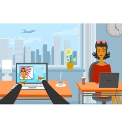 Working day vector image vector image