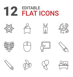 12 group icons vector