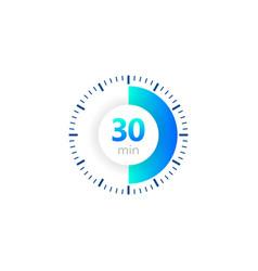 30 minutes stopwatch icon digital vector