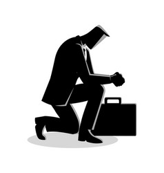 a businessman praying vector image