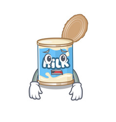 A picture condensed milk showing afraid look vector