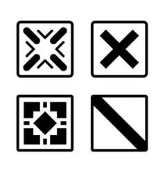 Abstract futuristic graphic sci fi icons vector