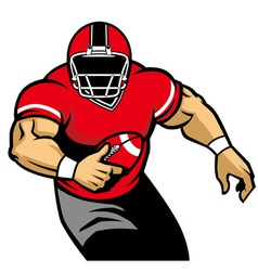 American football player run vector