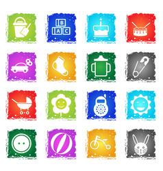 Baby icon set vector