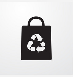 Bag with recycle icon for web and mobile vector