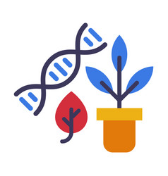 biology lesson concept dna structure and plant vector image