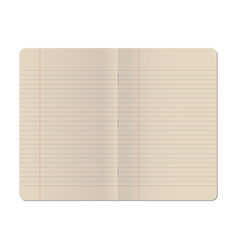 blank stapled lines notebook isolated on white vector image