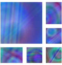 Blue colorful gradient abstract background set vector