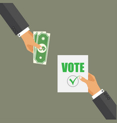 Buying vote concept corruption in election vector