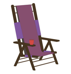 Chair recliner icon beach summer lounge design vector