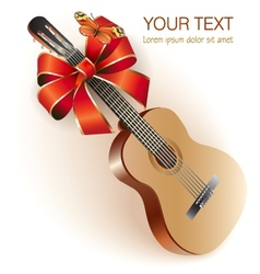 Classical Spanish guitar vector image