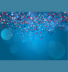 confetti background for independence day 4th july vector image
