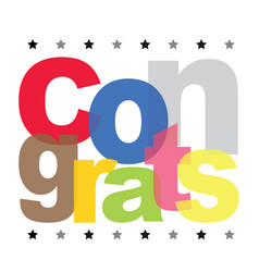 Congrats text design vector