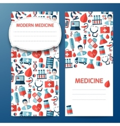 Cover page with medicine symbols vector