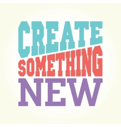 Create something new vector