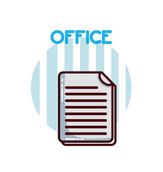 Documents and sheets office element vector