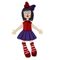 Doll isolated for Halloween vector