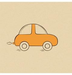 Doodle drawing a car vector