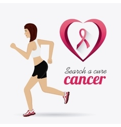 Fight against breast cancer campaign vector image