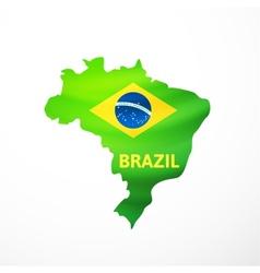 flag maps brazil vector image