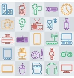 gadgets line icon set vector image