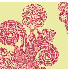 hand draw ornate flower design element vector image
