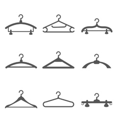 Hangers black icons vector