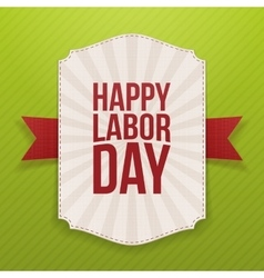 Happy Labor Day realistic paper Banner Template vector