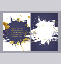 holiday party invitation template design vector image