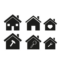 Homes icons set vector