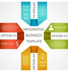 Infographic business template vector