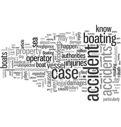 Injuries sustained from accidents on boats vector