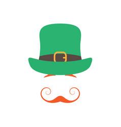 irishman with orange graceful mustache and hat vector image