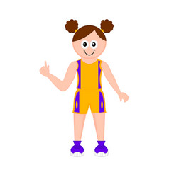 isolated girl athlete cartoon character vector image