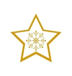 Isolated star of Christmas season design vector