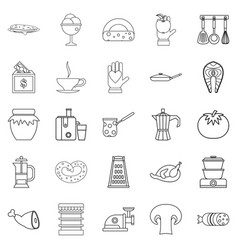 jam icons set outline style vector image