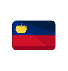 Liechtenstein flag icon isolated on white vector