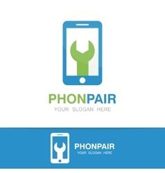 logo of repair of phone vector image