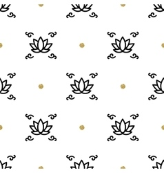 Lotus seamless pattern yoga background vector