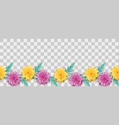 lush chamomile paper origami vector image